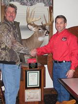 John Klucky with his 187 inch NH record Buck